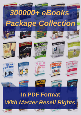 300000 eBooks Package Collection Pdf Format  M Resell Rights Free shipping