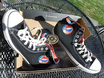 0f0b8568ee06 Converse Chuck Taylor Grateful Dead High Tops Steal Your Face Size US 8-MINT