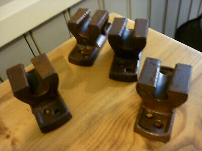 Vintage cast iron bed brackets for bed base - used