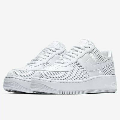 Size 10 Women's Nike Air Force 1 Af1 Upstep SI Triple White