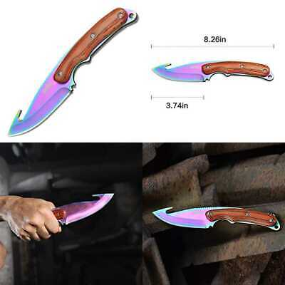 Real CS GO Gut Knife Counter Strike CSGO Knives Fixed Blade Tactical Hunting Sur