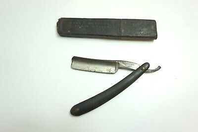 """Antique Wade & Butcher Straight Razor With Case 7/8"""""""