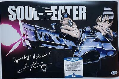 Todd Haberkorn signed 11x17 Photo Death the Kid Soul Eater  Anime Beckett
