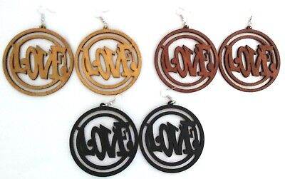 """Queen Long Statement Dangle Wood Earrings 4 Colors To Choose From 5-3//8/"""" L NWT"""