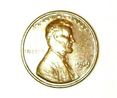 Lincoln Memorial .1 Cent Coin 1969 S. Double Die .Great Collection !!!