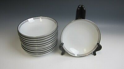 Lot of 12 Noritake China SILVER KEY Fruit and Dessert Bowls EXCELLENT