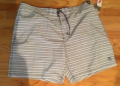 b09e53a4c7 MENS CREMIEUX GRAY Striped Lined Swim Trunks XXL NWT $59.50 - $14.99 ...