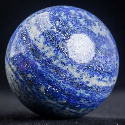 358g 60mm Natural Blue Lapis Lazuli Quartz Crystal Sphere Healing Ball Chakra
