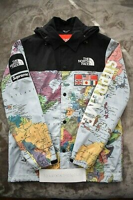 5b061a86 Supreme x North Face TNF Coaches Map Jacket Expedition Small Rare