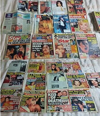 HUGE lot of MICHAEL JACKSON tabloids & magazines! FAST SHIPPING!