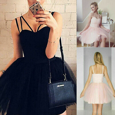 faffb3f89a US Women's Lady Evening Formal Party Prom Bridesmaid Mini Short Tulle Tutu  Dress