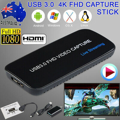 4K USB 3.0 Video Capture Live Streaming Recorder FHD HDMI TV For PC PS3 PS4 Xbox
