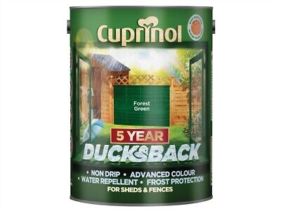 Cuprinol CUPDBFG5L Ducksback 5 Year Waterproof for Sheds & Fences Forest Green 5