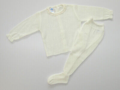 Baby Knit Set Light Beige. Made in Spain.