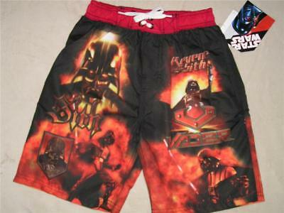 1130a4098613d NEW STAR WARS DARTH VADER Swimsuit Swim Trunk Shorts Boys Bathing suit Size  4
