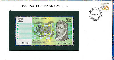 *Banknotes of All Nations Australia 2 Dollars 1979 P43c UNC Knight/Stone JTN