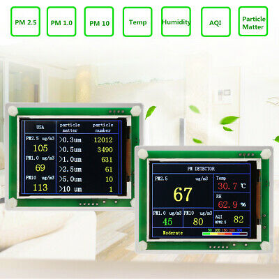Household PM2.5 Detector Module Air Quality Dust Sensor LCD Display Monitor