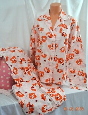 Victorias Secret Flannel Silk Trim  Dreamer Pajama Set Pajamas NWT M L