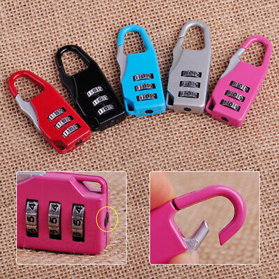 3 Digit Mini code Metal Combination Safe Travel Luggage Lock Padlock password