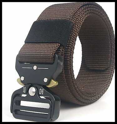 Military Tactical Belt Concealed Carry CCW Gun Adjustable Heavy Duty Webbing Nyl