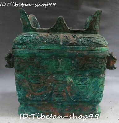 """16"""" Shang Zhou Dynasty Bronze Ware Warring States Period Musical Instrument Bell"""