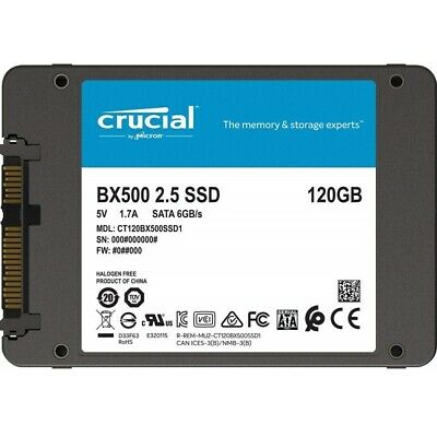 "Crucial BX500 120GB 2.5"" SATA SSD - 3D NAND 540/500MB/s 7mm Acronis True Image"