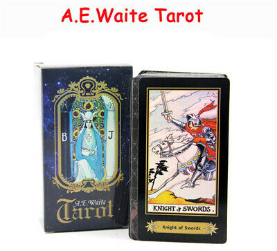 Tarot Cards Deck Vintage Colorful Box Future Telling Game 78 Cards Rider Waite