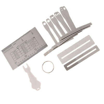 Set of 13 Guitar String Action Ruler Kit with Pin Puller Set Luthier Tools