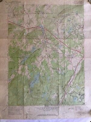 Vintage Topographical Map - Monroe, N.Y. Quadrangle Tuxedo - 1957
