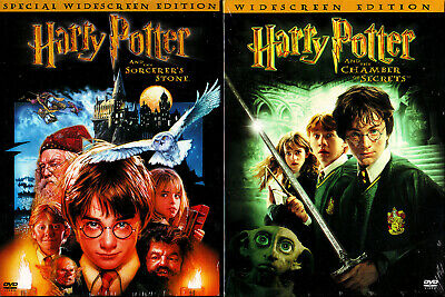 Harry Potter Sorcerers Stone, Chamber of Secrets (DVD 2001 2002) (new sealed)