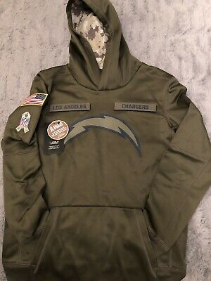 sale retailer add90 c03c7 NIKE LOS ANGELES Chargers 2018 NFL Salute to Service Hoodie ...