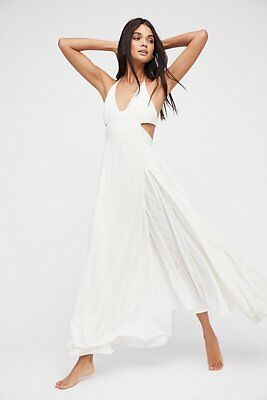 74e973d36c954 169481 New Free People Endless Summer Lille White Halter Long Maxi Dress L