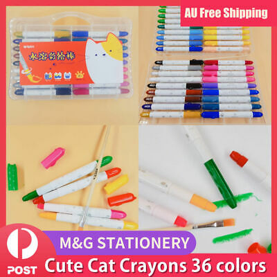 36 Colors Water-Soluble CRAYON CRAYONS COLORS KID GIFT DRAW CRAFT Twist Body