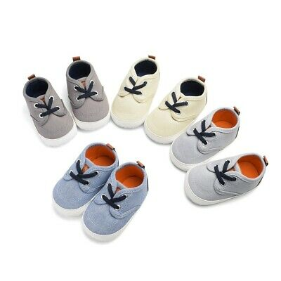 Toddler Infant Baby Boy Girls Canvas Sneaker Anti-Slip First Walkers Candy Shoes