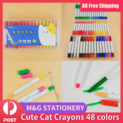 48 Colors Water-Soluble CRAYON CRAYONS COLORS KID GIFT DRAW CRAFT Twist Body