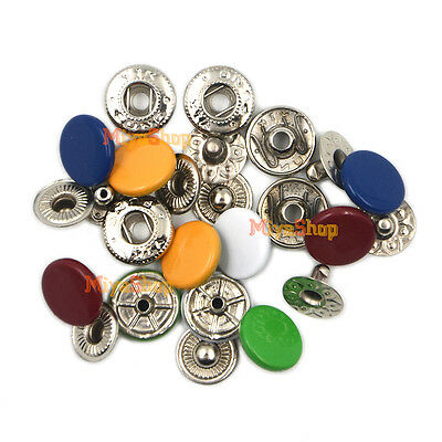 Multicolor Metal Snap Fasteners Poppers Press Stud Button Sewing DIY Fashion