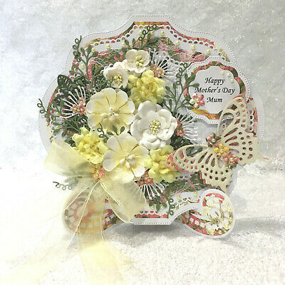 Handmade Mother's Day Card 3D Shabby Chic