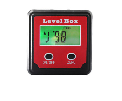 New Magnetic Digital Protractors Angle Finder Bevel Level Box Inclinometer Meter