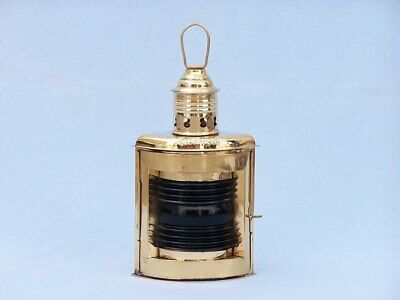 """Solid Brass Port and Starboard Oil Lantern 12"""""""
