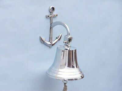 """Chrome Hanging Anchor Bell 12"""""""