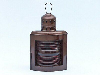 """Antique Copper Port and Starboard Oil Lamp 17"""""""
