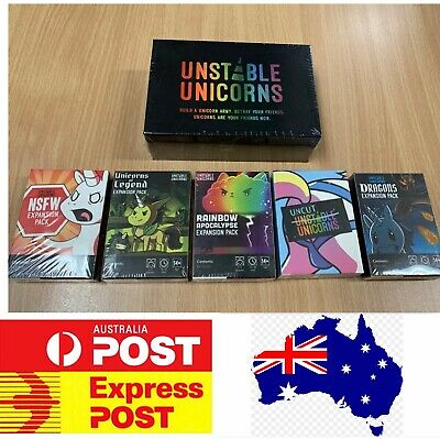 Unstable Unicorns Premium Edition, main base game or Expansions, Mel stock, Expr