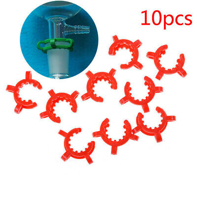10pcs 24/29 24/40 Lab Plastic Clamp Tongs Clip Keck for 24# Glass Ground Joint ♫