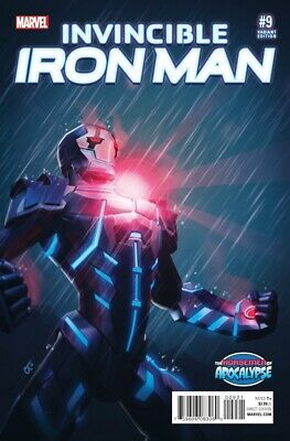 Invincible Iron Man (2015) #   9 Variant Cover (9.0-VFNM) 1st Printing