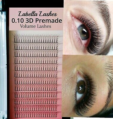 0.10 Premade 3D Russian Volume Lashes Volume Mink Eyelash Extensions C D Curl