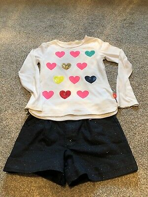 Billie Blush Girls Outfit 7 Yrs Sparkle Shorts & Matching FREE Top 7Yrs ❤️