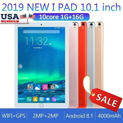 10.1'' 16GB Android 8.1 Tablet PC Octa Core 10 Inch HD WIFI 2 SIM 1G Phablet US