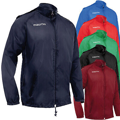 K-Way Antivento Con Zip Impermeabile Giacca Leggera Sportiva Macron Atlantic