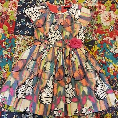 Marks & Spencer Age 3-4 Girls Butterfly Print Summer Party Prom Dress