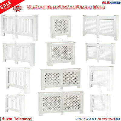 Radiator Cover White MDF Solid Modern Traditional Wood Grill Cabinet Furniture A
